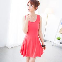 Buy 'rico – Skater Tank Dress' at YesStyle.com plus more Taiwan items and get Free International Shipping on qualifying orders.