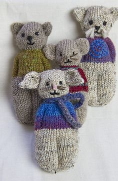 Ravelry: Animal Comfort Dolls pattern by P.K. Olson (I purchased this pattern...TRK)