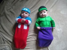 Captain America and Hulk Costumes for Baby Twins  sc 1 st  Pinterest & DIY Hulk Costume! Baby Hulk costume avengers baby Halloween ...