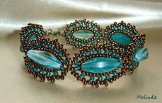 réz-türkizzöld karkötő / copper - turquoise green bracelet