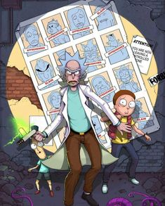 Rick and Morty doing Xmen days of Future past
