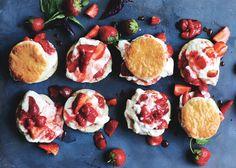 strawberry-basil shortcakes