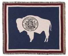 FLAG OF WYOMING TAPESTRY THROW - With Love Home Decor