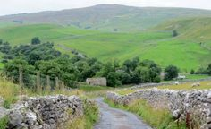 Hiking in green and pleasant lands -- Up the road from Malham Village, Yorkshire.  Pictures: Bob Tomlin