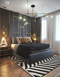 Inspirational ideas about Interior Interior Design and Home Decorating Style for Living Room Bedroom Kitchen and the entire home. Curated selection of home decor products. Modern Luxury Bedroom, Luxury Bedroom Design, Bedroom Bed Design, Home Room Design, Contemporary Bedroom, Luxurious Bedrooms, Home Decor Bedroom, Bedroom Ideas, 70s Bedroom