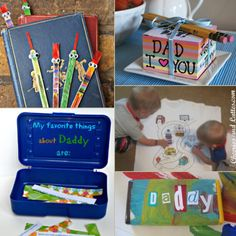 15 ideias de presentes feitos pelas crianças para o dia dos pais - Tempojunto | Aproveitando cada minuto com seus filhos You And I, Fathers Day, Daddy, Lunch Box, Education, My Favorite Things, Toys, Baby Things, Gift Ideas For Parents