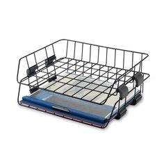 Accessories & Furnishings | Desk Accessories | Wire Desk Tray, Letter, Side Load, 2/Box, Black | B1604026 - GlobalIndustrial.com