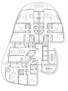 C and D towers Architecture Concept Diagram, Architecture Plan, Residential Architecture, Interior Architecture, Apartment Layout, Apartment Plans, Zaha Hadid Projects, Modern Family House, Architectural Floor Plans