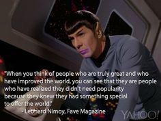 Read Leonard Nimoy's 1968 Words of Wisdom