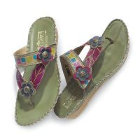Handpainted Leather Sandals by Spring Step®