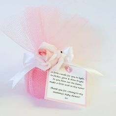 Scented Votive Candle Baby Shower Favours Gender Reveal Candle favours with Poem Tag Wedding Bridal shower (Qty Baby Shower Fall, Baby Shower Themes, Fall Baby, Girl Shower, Shower Ideas, Baby Shower Candle Favors, Personalized Baby Shower Favors, Pink Candles, Votive Candles