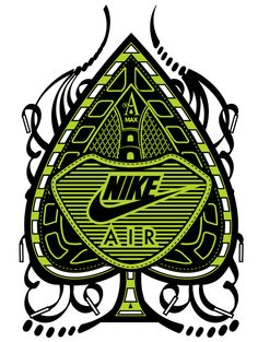 Artist- Hydro74 (Joshua Smith). Over the years Hydro74 has worked alongside Nike and assisted with various apparel based products, core advertising projects, type treatments, and larger scale art commissions. (Client: Nike)