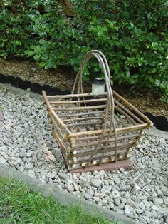 Buy rustic willow furniture & decor for your home online. Wood Log Crafts, Cabin Crafts, Willow Furniture, Twig Art, Square Baskets, Willow Weaving, Rustic Gardens, Wood Creations, Wooden Art