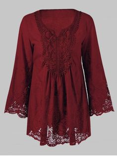 GET $50 NOW | Join RoseGal: Get YOUR $50 NOW!http://m.rosegal.com/blouses/lace-splicing-long-sleeve-peasant-690776.html?seid=6817132rg690776