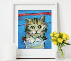 Should look on my wall! A kittenoriginal Acrylic painting free shipping by ATTOpainting, $45.00