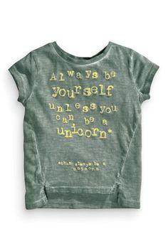Buy Khaki Unicorn Slogan T-Shirt (3mths-6yrs) online today at Next: Portugal