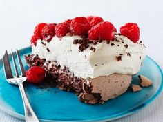 Chocolate Raspberry Pavlova. Don't know what this is but I'm drooling.