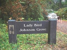 Sign and Septic Truck Lady Bird Johnson Grove Redwood National Park Orick California   Click for larger clearer image  As a Texan I was surprised and delighted to see our First Lady honored. She was instrumental in creating Redwood National Park and many other conservation projects. In Texas she led saving our state flower the bluebonnet from extinction and helped jumpstart planting highway medians with wildflowers. Texas highways in spring are an incredible sight thanks to her. Since her…