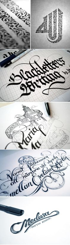Remarkable Examples Of Hand Lettered Calligraphy   #typography