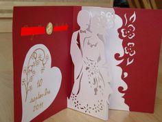 Carte félicitations mariage en kirigami