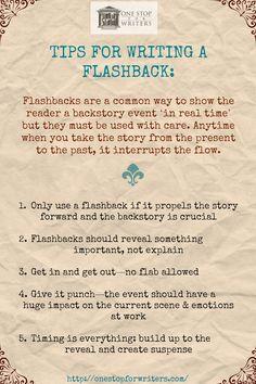 Tips for writing flashbacks