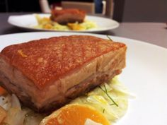 Twice cooked roast pork belly