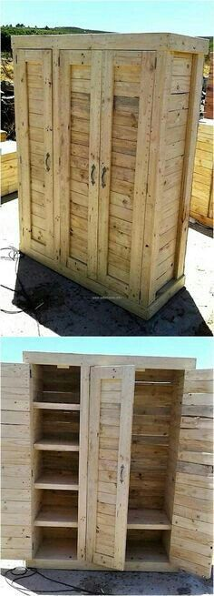 Ingenious Ideas for Wooden Pallet Reusing 1 wood pallet wardrobe The post Ingenious Ideas for Wooden Pallet Reusing appeared first on Wood Diy.
