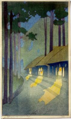Road to the Forest ; 1913 ; Bertha Lum.  American who bridged the American and Asian/Japanese art world,esp the wood block print. See link for catalogue raisonne. http://www.bertha-lum.org/acc.Asp
