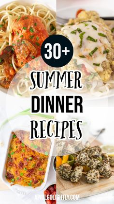 Make these easy summer dinner recipe during the hot and fun summer days. Use your grill or cook stove top it is up to you! Summer is is so much fun outdoors with the BBQ grill and light refreshing flavors. #summerdinners #summerdinner Healthy Summer Recipes, Easy Dinner Recipes, Healthy Foods, Yummy Recipes, Make Ahead Meals, Easy Meals, Slow Cooker Recipes, Cooking Recipes, Slow Cooking