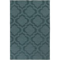 Found it at AllModern - Central Park Teal Geometric Zara Area Rug