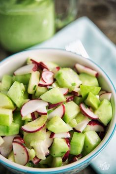 Radish, Cucumber, And Apple Salad - This crunchy chilled salad is ...