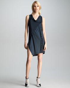 3.1 Phillip Lim Leopard-Print Jacket & Twisted Placket Dress - Neiman Marcus