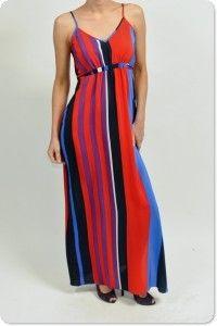 Brilliant Vertical Striped Dress $192