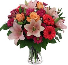 A cute bouquet suitable for any occasion, including Mother's Day. This is one of our bestselling bouquets.
