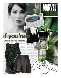 """""""In Slytherin, you'll make your real friends."""" by stackmel ❤ liked on Polyvore featuring Marvel Comics, Opening Ceremony, Proenza Schouler, Dr. Martens, marvel, genderbent, buckybarnes, GemmaArterton and TheWinterSoldier"""