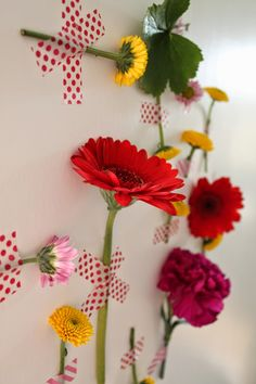 masking tape and flowers