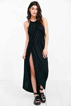 Silence + Noise Grecian Draped Maxi Dress - Urban Outfitters