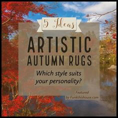 Five autumn area rug ideas to help you bring in the changing season. Are you the serious type, artistic type, or more of a casual person? Rugs In Living Room, Bedroom Rugs, Bedrooms, Orange Home Decor, Rug Ideas, Decor Ideas, Circle Rug, Solid Rugs, Orange House