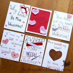 Make your own pun-tastic Valentines to share your true love - sewing - with friends and family! Valentines Puns, Make Your Own, How To Make, Love Sewing, True Love, Friends, Projects, Cards, Messages