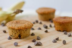 12 gf banana choc chip muffins  350/30 min  1 1/4 cup brown rice flour  1/4 cup corn starch  3/4 cup sugar  2 ripe bananas, mashed  6 Tablespoons vegetable oil  1/2 cup water  2 eggs  1/2 teaspoon cinnamon  1/4 teaspoon salt  1/4 teaspoon baking soda  1/2 cup chocolate chips