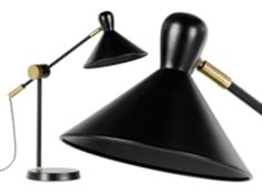 Friz lampe de bureau trépied en acier noir h cm u eu eu e luminaires