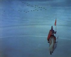 Perceval le Gallois d'Éric Rohmer, 1978  Il était trois gouttes de sang Qui scintillaient là sur le blanc