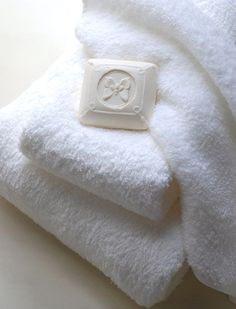 "just a little special touch for guest,  ""good soap"" placed on the towels"