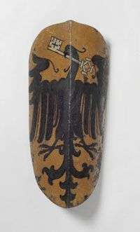 Philadelphia Museum of Art - Collections Object : Pavise (shield) painted with the Coat of Arms of the Town of Wimpfen am Neckar (Baden-Württemberg)