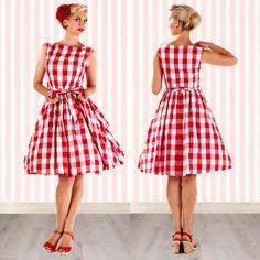 Soooo cute and retro! I love this dress!!