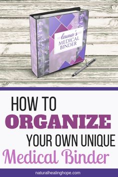 Learn how to organize your own unique Medical Binder (includes FREE Printable Binder Inserts) You are in the right place about home care spa Here we offer you Massage Tips, Good Health Tips, Health Advice, Health Care, Family Emergency Binder, Alternative Heilmethoden, Medical Brochure, The Cure, Home Binder