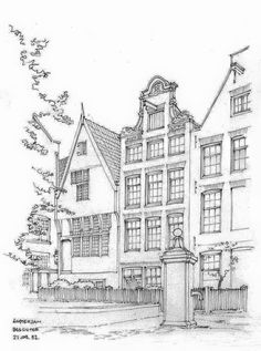 Amsterdam Colouring Page