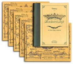 Spencerian Penmanship -- A theory book and 5 lesson books to learn Spencerian Penmanship. I love the look of handwriting from the and Spencerian is a uniquely American form. Improve Your Handwriting, Improve Handwriting, Cursive Handwriting, Handwriting Practice, Penmanship, Caligraphy, Calligraphy Writing, Calligraphy Practice, Handwriting Analysis