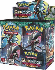 Image for Pokémon TCG: Sun & Moon—Guardians Rising Booster Display Booster Packs) (pre-order) from Pokemon Center Pokemon Sammelkarten, Pokemon Packs, Pikachu, Pokemon Poster, Pokemon Craft, Pokemon Fusion, Pokemon Trading Card, Trading Cards, Pokemon Card Box