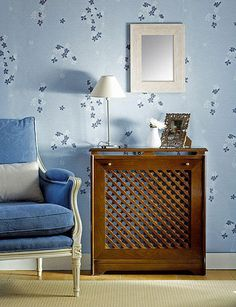 2: ideas to hide an ugly firplace/radiators